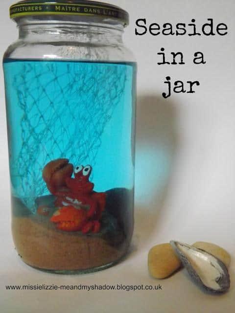 seaside in a jar, Nature Craft