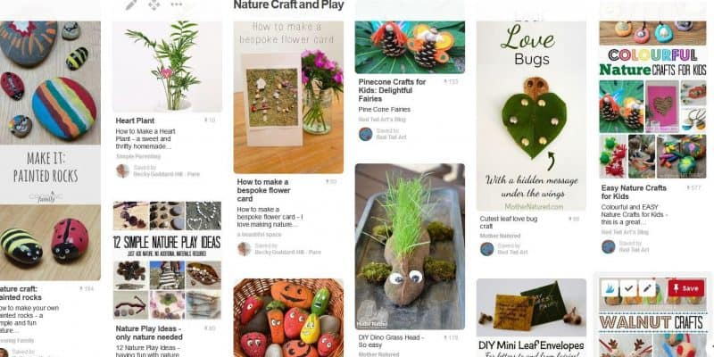 Nature crafts on Pinterest